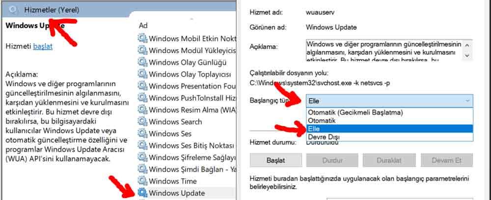 windows-update-guncelleme-kapatma